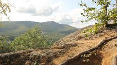 Rocks Mountains Greenery Angel Rocks Stock Footage