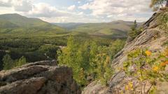 Trails Mountains Rocks Trees Alaska - stock footage