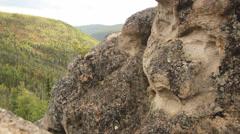 Mountains Cliffs Angels Rocks Alaska - stock footage