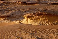 the great sahara desert near siwa, western Egypt - stock photo