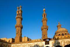 Al-Azhar University and mosque, Cairo, Egypt - stock photo