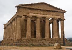 Valley of the Temples, Agrigento, Sicily, Italy. - stock photo
