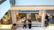 Stock Video Footage of Auntie Anne's menu counter