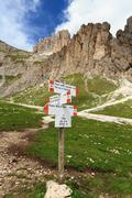 Stock Photo of directions in Dolomites