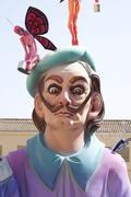 Fallas in Valencia, Spain - stock photo