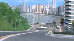 City of Balneario Camboriu-SC Stock Footage