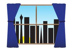 City Sunrise - stock illustration