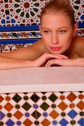 woman in the bathtube - stock photo