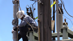 Municipal Utility Work, removing oil - stock footage