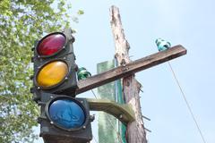 Vintage Traffic Signal - stock photo
