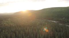 Trees Water Alaska Stock Footage