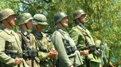 German soldier march 01 Stock Footage