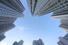 Hong Kong packed housing apartments Stock Photos