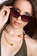 Beautiful sunglasses woman Stock Photos