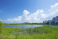 Hong Kong Wetland Park - stock photo