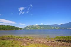 Coastal landscape in Hong Kong Geo Park - stock photo