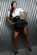 fashion model woman - stock photo