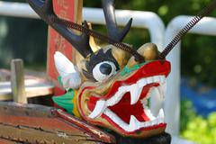 Dragon boat head in Chinese culture Stock Photos