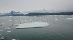 Ocean Iceberg Water Mountains Alaska - stock footage