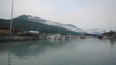 Ocean Port Water Boat Alaska Stock Footage
