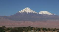 San Pedro de Atacama oasis vista s Stock Footage