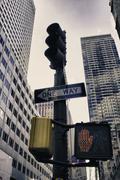 Street Merkkejä New York City Kuvituskuvat