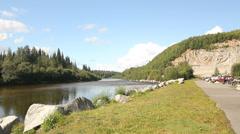 Alaska River Trees Stock Footage
