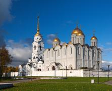 Assumption cathedral  at Vladimir in autumn Stock Photos