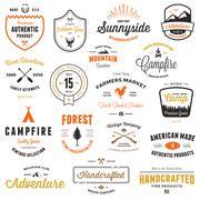 Vintage badges & labels - stock illustration