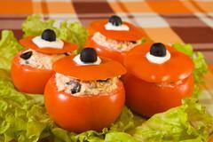 Farci tomato salad Stock Photos