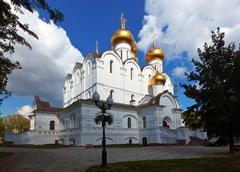 Assumption cathedral  at Yaroslavl in summer - stock photo