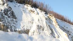 Snow Mountains Alaska Tundra Stock Footage