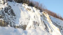 Snow Mountains Alaska Tundra - stock footage