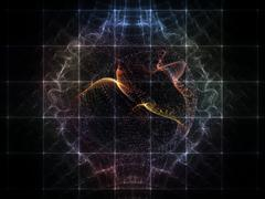 Elegance of Particle Grid Stock Illustration