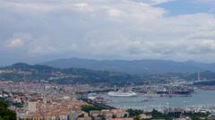 La Spezia, panorama of harbor Stock Footage