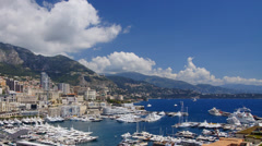 Monaco harbor, time-lapse Stock Footage