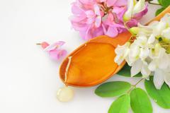 acacia honey - stock photo