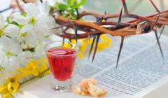 Taking Communion - stock photo