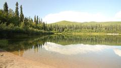 Mountains Tree Alaska Lake Stock Footage