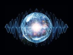 Stock Illustration of Virtual Wave Particle