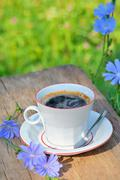Chicory hot drink - stock photo