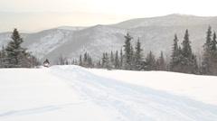 Alaska Snow Mountains Hills Stock Footage