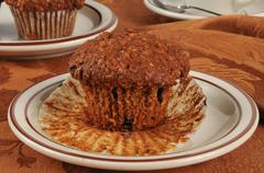 Bran muffins Stock Photos