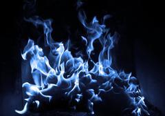 Blue flame Stock Photos