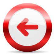 left glossy web icon - stock illustration