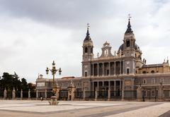Almudena Cathedral. Madrid, Spain Stock Photos
