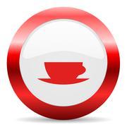 Espresso glossy web icon Stock Illustration