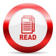 read glossy web icon - stock illustration