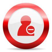 Remove contact glossy web icon Stock Illustration