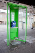 Pay phone near amstel station Stock Photos